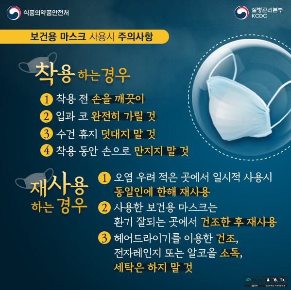 [일반] 보건용마스크 올바른 사용법(한시적 지침)의 첨부이미지 4