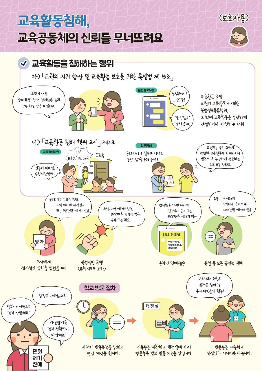 [일반] 교육활동 보호 및 침햬 예방을 위한 애니메이션 자료의 첨부이미지 2